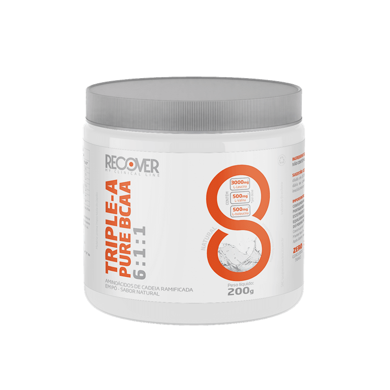 TRIPLE - A PURE BCAA 6:1:1 - SABOR NATURAL - 200g - RECOVER