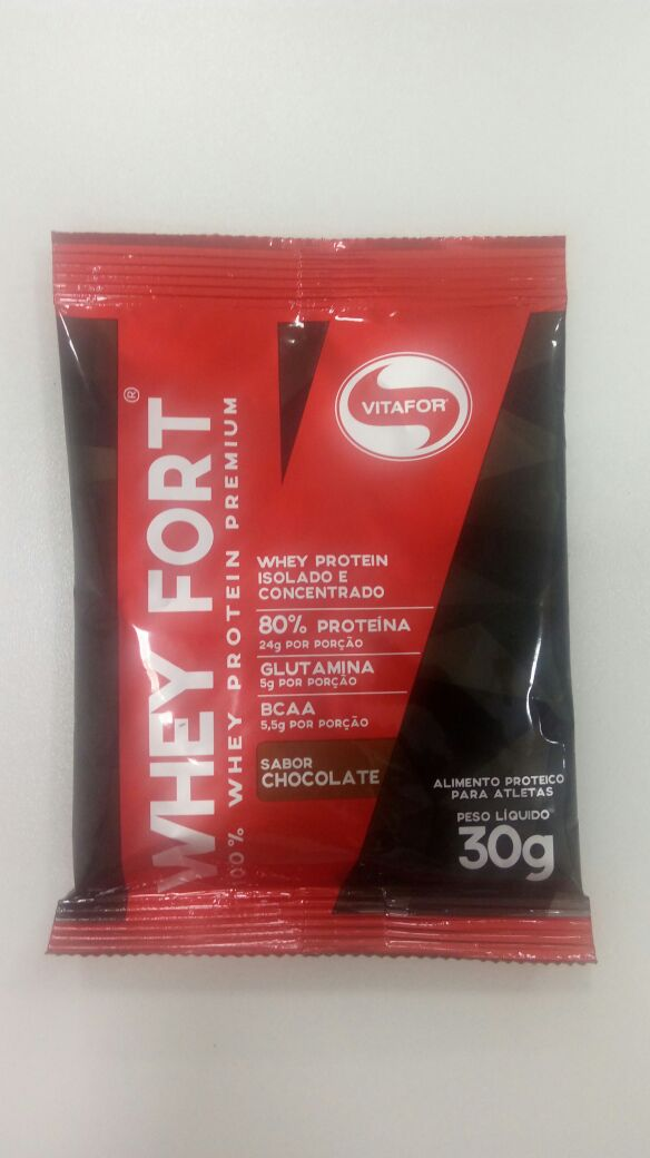 WHEY FORT - CHOCOLATE - 30g - SACHÊ - VITAFOR