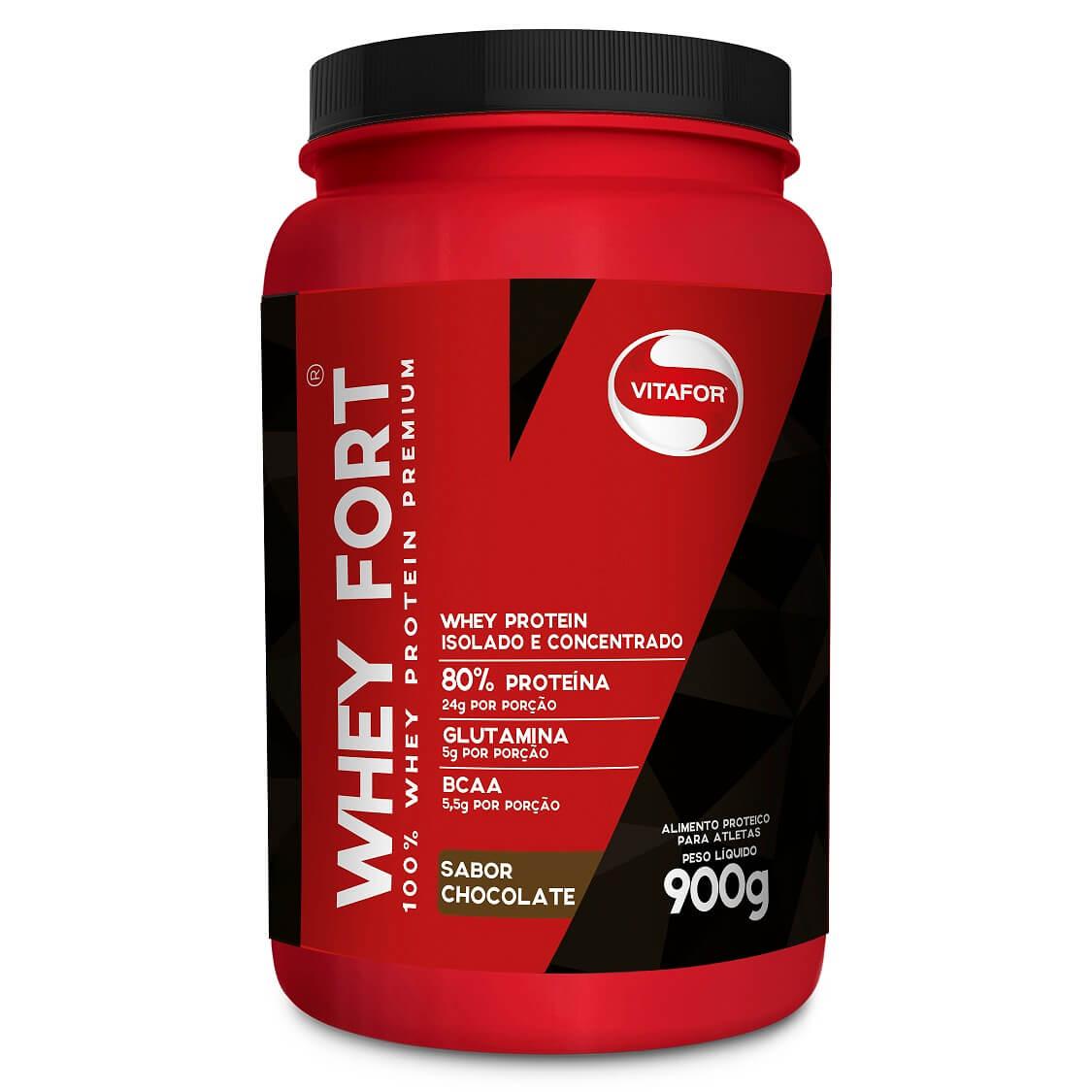 WHEY FORT SABOR CHOCOLATE - 900g - VITAFOR