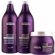 Kit Absolut Control Loréal Professionnel Máscara 500g, Shampoo e Condicionador 1,5L