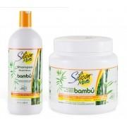 Silicon Mix Bambu Kit Shampoo 1 Litro + Mascara 1 Kilo