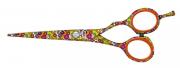 Tesoura Jaguar Flower Power Whiteline Fio Navalha 5.5 Polega