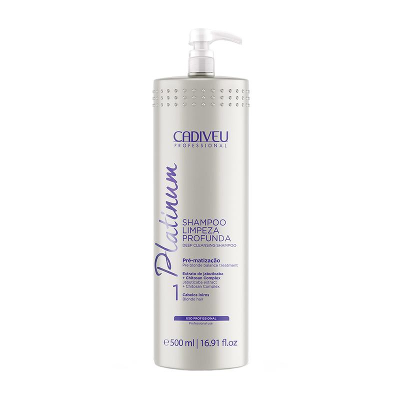 Cadiveu Platinum Shampoo Limpeza Profunda Passo 1 500ml
