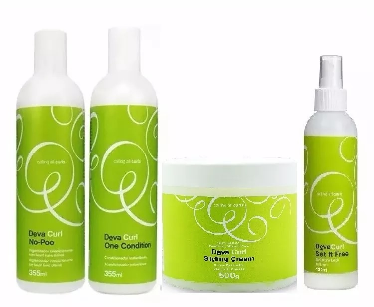 Deva Curl No Poo+ One Condition+ Styling Cream E Set It Free