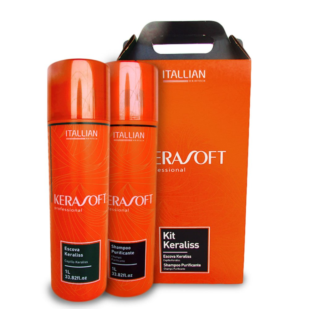 Kit Escova Keraliss Kerasoft Itallian Color 2 x 1000ml