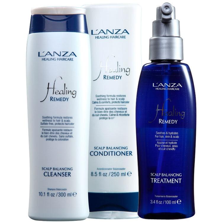 Lanza Healing Scalp Balancing Cleanser (3 Produtos)