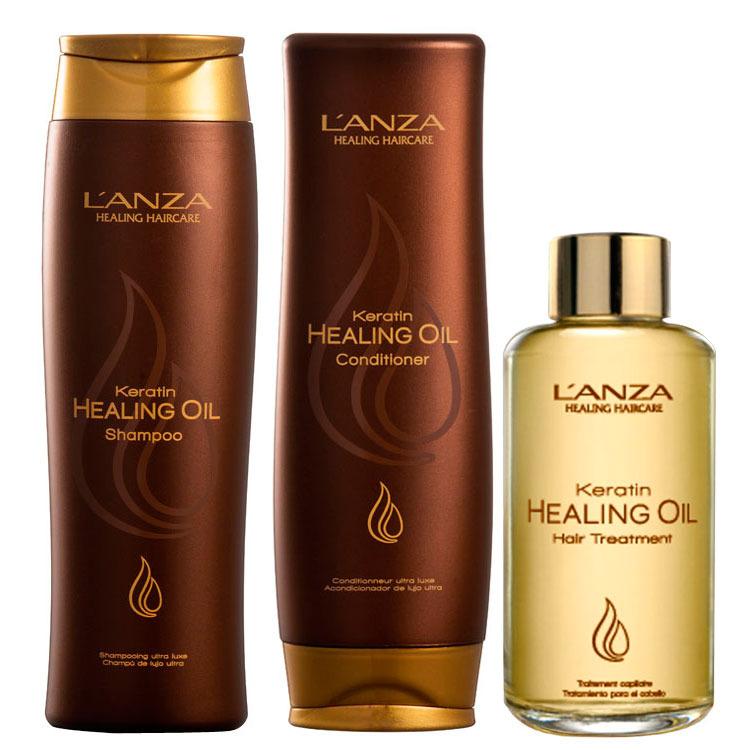 Lanza Keratin Healing Oil Treatment Kit (3 Produtos)