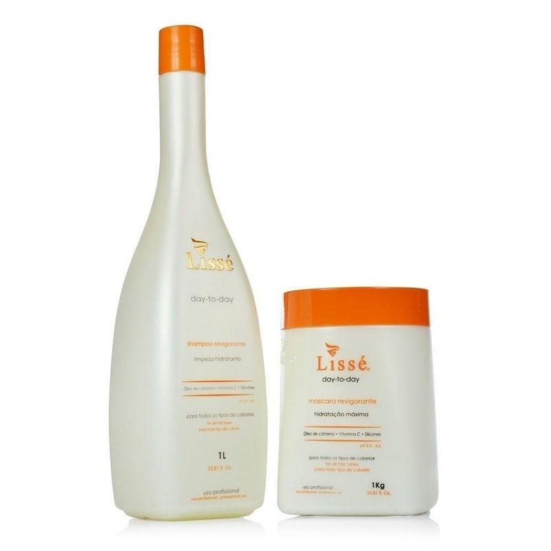 Lissé kit Hidratação Maxima Revigorante Day to Day Shampoo e Másc 1 L