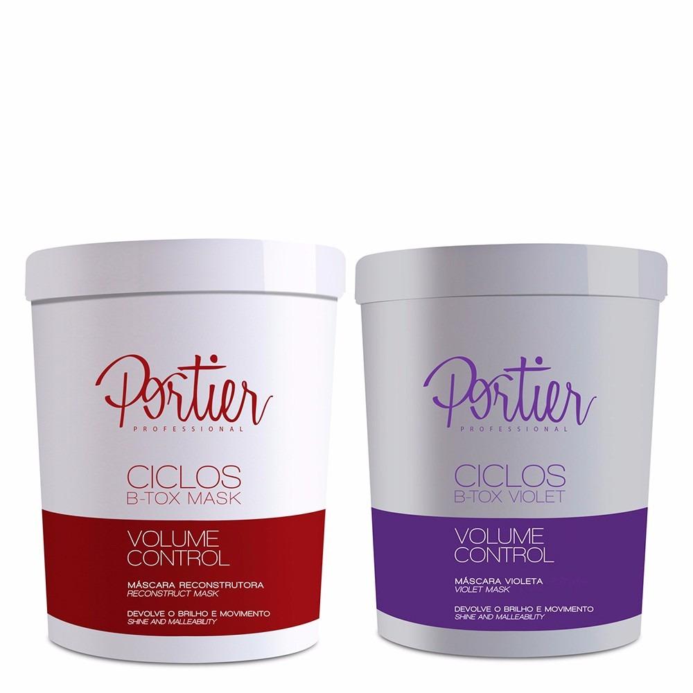 Portier Btox Ciclos Mask e Btox Matizador Violet 2 x 1Kg