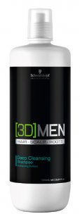 Shampoo Antioleosidade 3D Men Deep Clean Schwarzkopf 1000ml