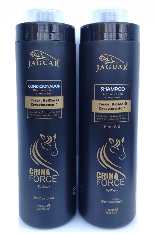 Shampoo e Condicionador Jaguar Crina Force By Roger 2 x 1000ml