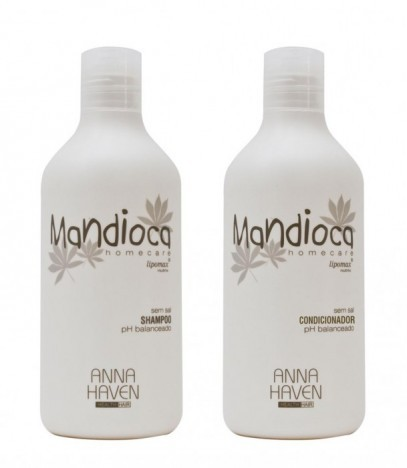 Shampoo e condicionador Mandioca Anna Haven 2x500ml