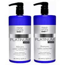 Shampoo e Mascara Anna Haven Platinum Touch 2x1000ml