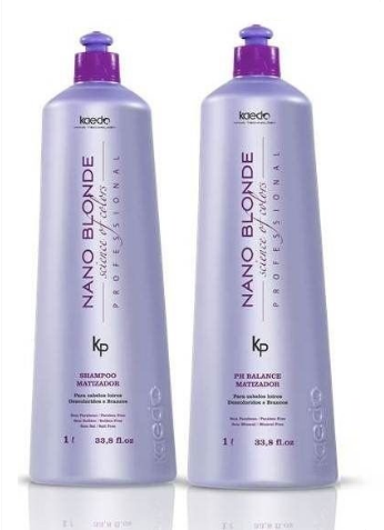 Shampoo e Mascara Kaedo Nano Blonde 2x1000ml