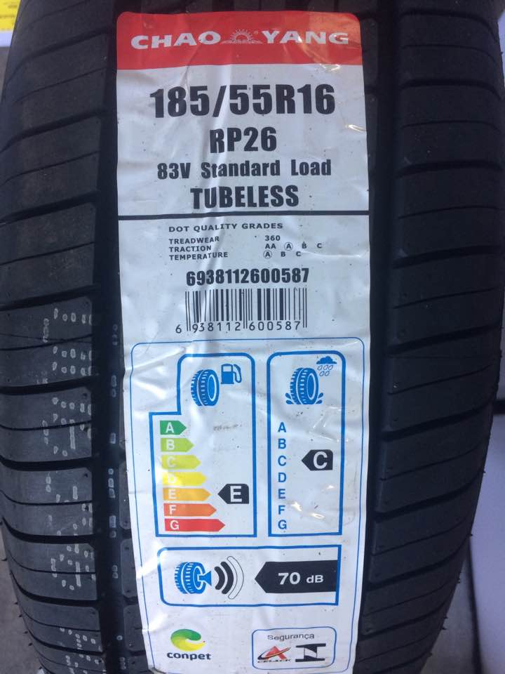 Pneu 185/55R16 Chaoyang P26 83V (Honda Fit, City, March, Strada)