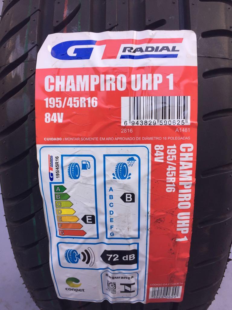 Pneu 195/45R16 GT Radial Champiro UHP1 XL 84V (Citroen C2, Fiat 500, ka Sport , Ka Street)