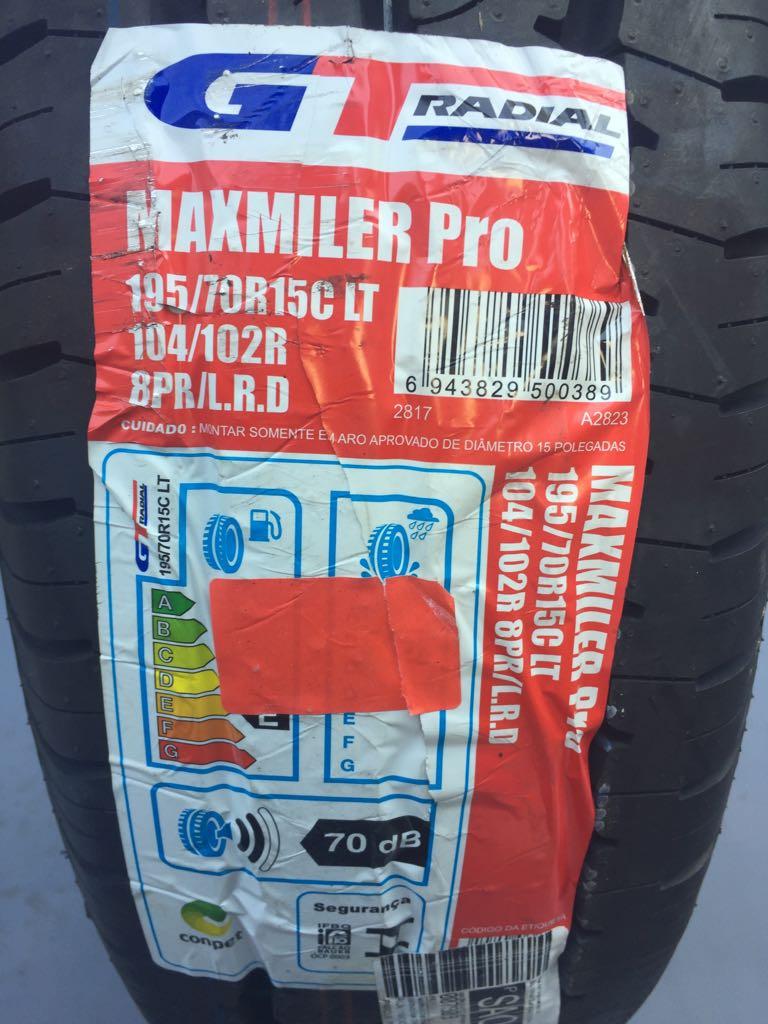Pneu 195/70R15 GT Radial Maxmiler 8 lonas 104/102R (Pneu de Carga)