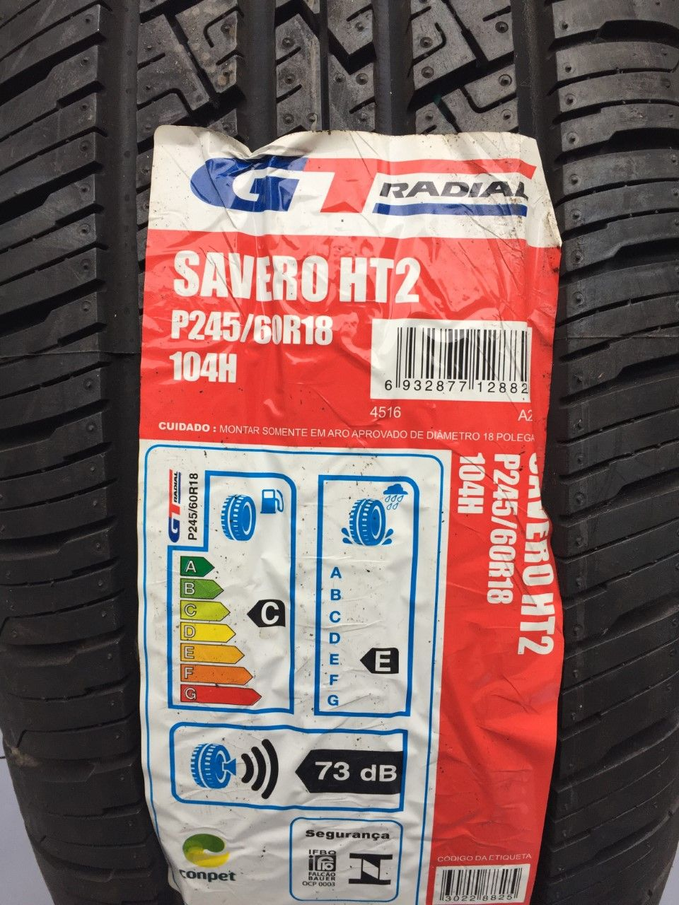 Pneu 245/60R18 GT Radial Champiro Savero HT2 (Hyundai Vera Cruz, Ford Edge)