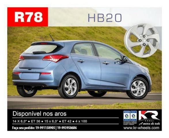 Roda HB20 KR R78 Aro 14