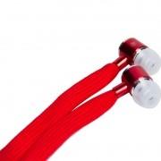 Fone de Ouvido Canaltech Cadarço Vermelho 1,2m