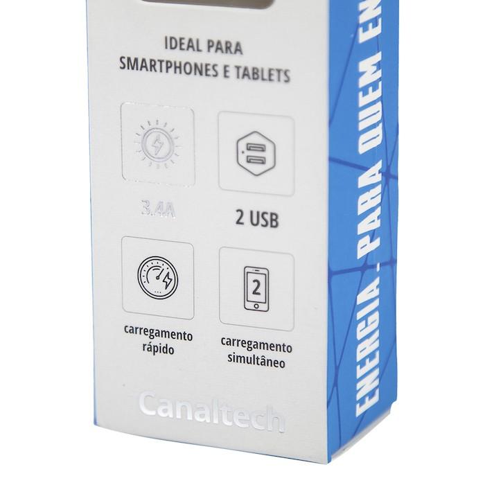 Carregador Veicular Canaltech - 2 Portas USB 3.4A