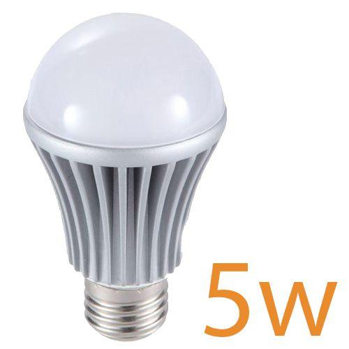 10x Lâmpada Led Bulbo 5W Branco Puro Bi-Volt