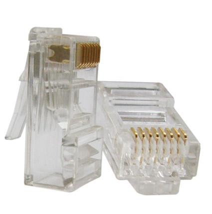 Conector RJ45 (Pacote c/ 100 unidades)