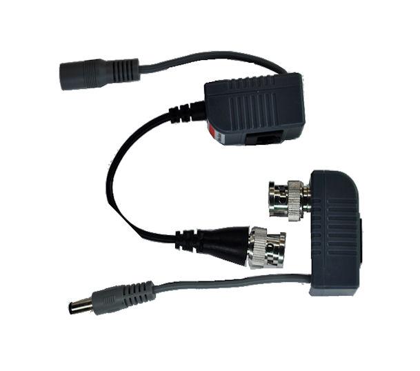 Conversor UTP Par Trançado Video / Energia Balun PoE Alcance 400m