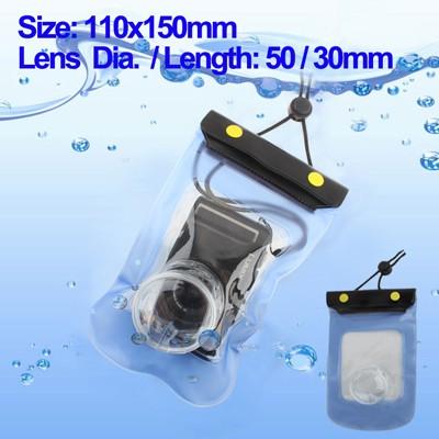 Capa a prova d´água p/ Camera Fotográfica  110 x 150 mm, Diametro e Tamanho da Lente: 50 / 30 mm