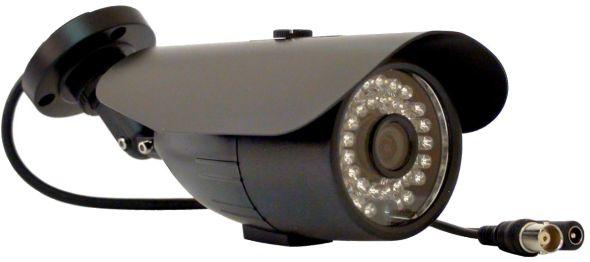 Câmera Infra 24 leds Cmos Digital 1/3 600 Linhas + IR CUT + Suporte (TOAN-331-HC)