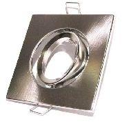 10x Spot Direcionável Led Quadrado Alumínio Escovado Mr16