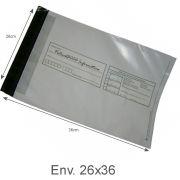 Envelope Pl�stico Seguran�a Lacre Tipo Sedex Impresso 26x36 (100pcs)