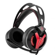 Fone Ouvido Headset Gamer M180 Pro Red Led