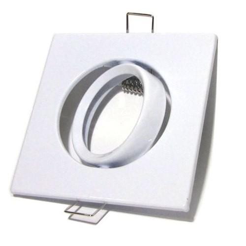 30x Spot Led Direcionável Quadrado Branco Mr16 Gu5.3 Bi-pino