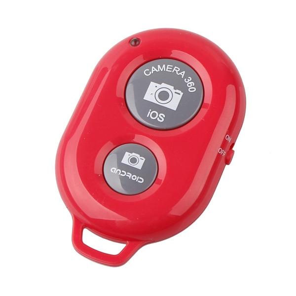 Bastão Pau de Selfie Monopod c/ Controle Remoto Bluetooth Vermelho