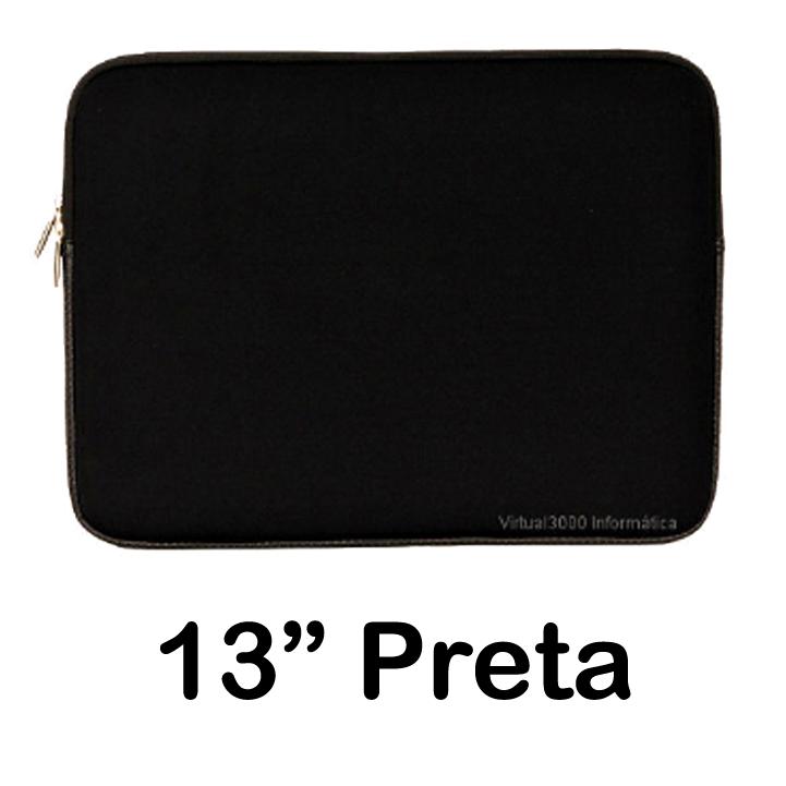 Capa para notebook 13 Preta