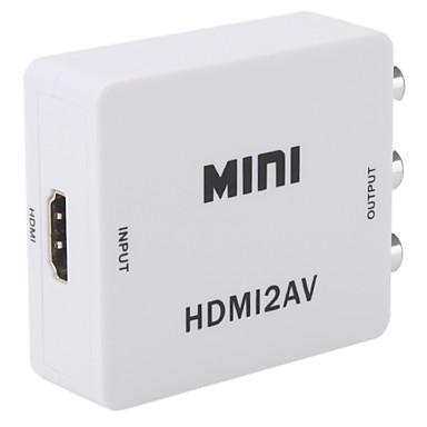 Conversor HDMI p/ Video Composto 3RCA