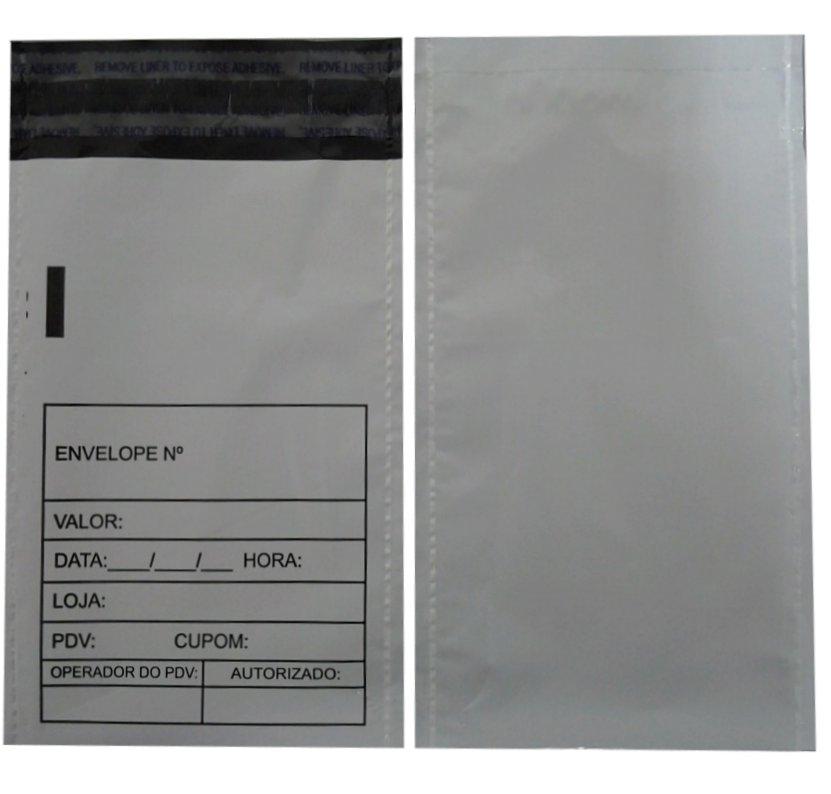 Envelope Plástico Sangria de Caixa Inviolável 12x20cm (250pcs)