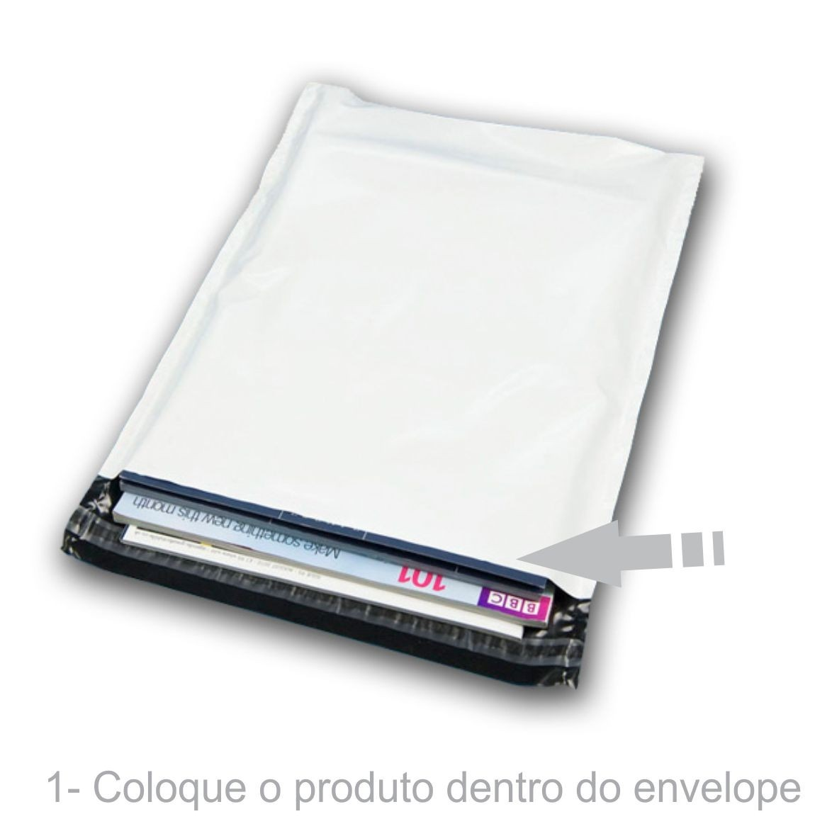 Envelope Plástico Segurança Lacre Tipo Sedex 100x60 (250 ou 500 Unidades)