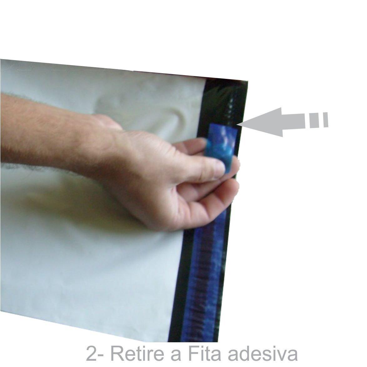 Envelope Plástico Segurança Lacre Tipo Sedex 30x20 (100pcs)