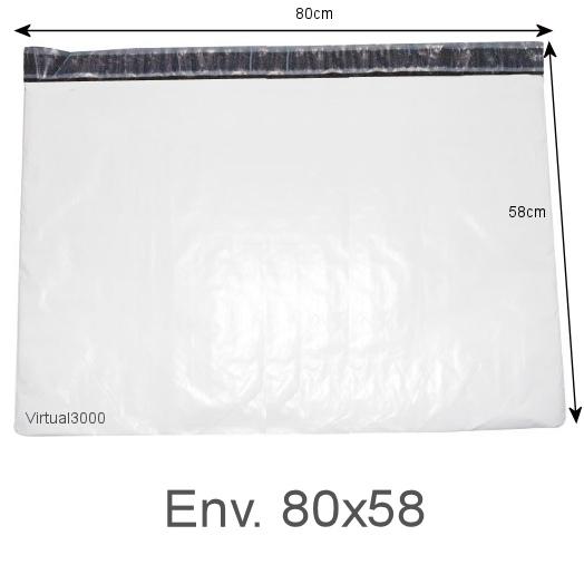 Envelope Plástico Segurança Lacre Tipo Sedex 80x60 (250 ou 500 Unidades)
