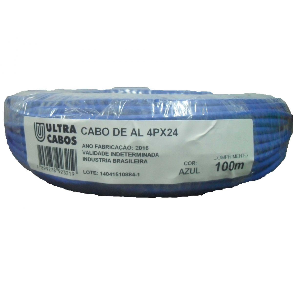 Kit Cabo Rede Cat5e 8 vias Rolo 100m  + Conector RJ45 (Pacote c/ 100 unidades)
