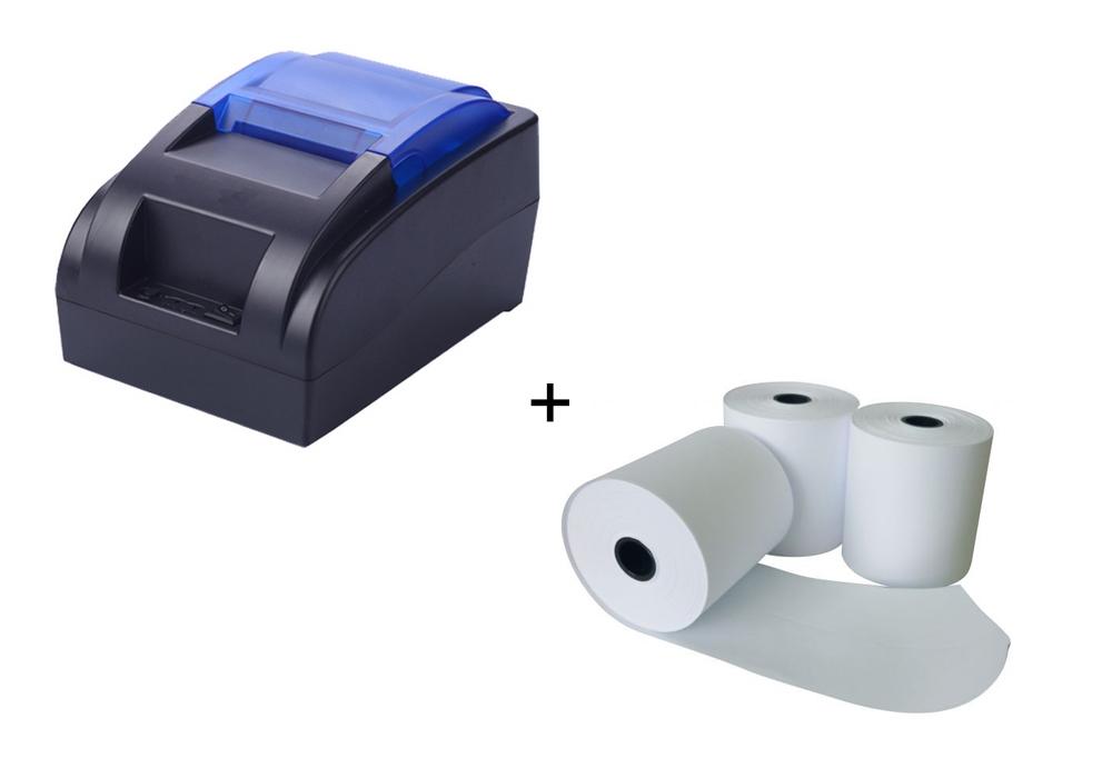 KIT Impressora Térmica 57mm - Oletech OT58 USB + 10 Bobinas 57X30mm