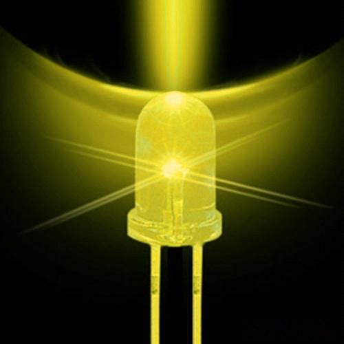 Led 5mm + Resistor (Pacote 1000un) Amarelo