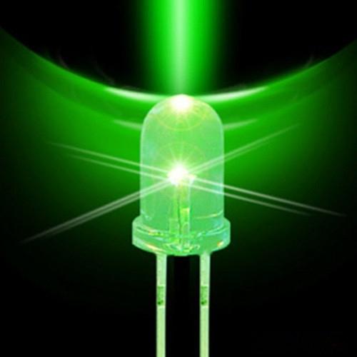 Led 5mm + Resistor (Pacote 1000un) Verde