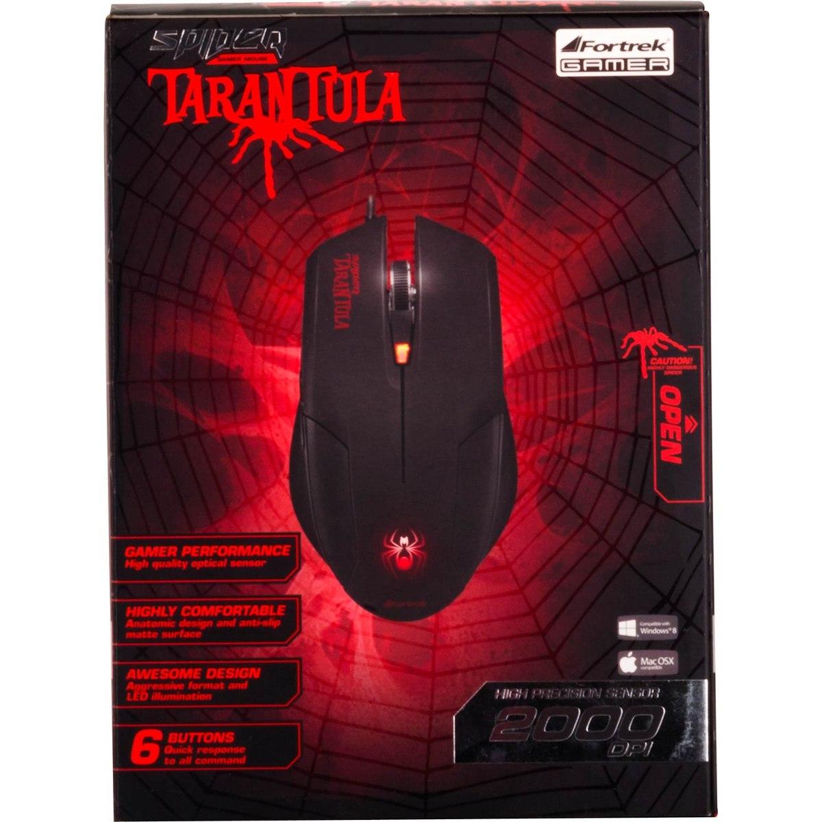 Mouse Fortrek Gamer Spider Tarantula 54623