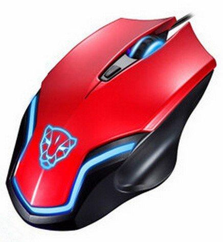 Mouse Laser Gamer Usb RGB Ergonômico 6D F61 Red Oletech