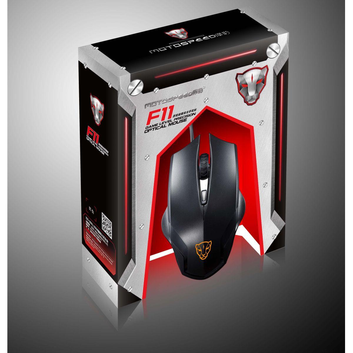 Mouse Laser Gamer Usb RGB Ergonômico 6D F60 Red Oletech