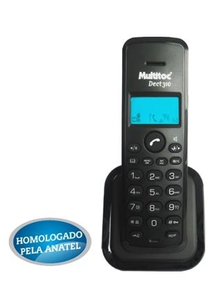 Multitoc Ramal Telefone S/fio Dect Black 310r