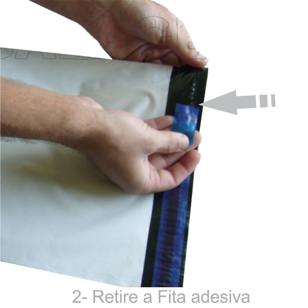 Envelope Plástico Segurança Lacre Tipo Sedex 40x50 (250Unidades ou 500Unidades)